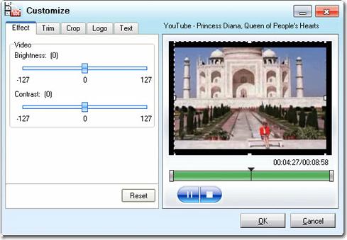Moyea YouTube Converter, Video Converter Software Screenshot