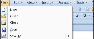 MS Word Classic Menu for MS Word 2007 Screenshot