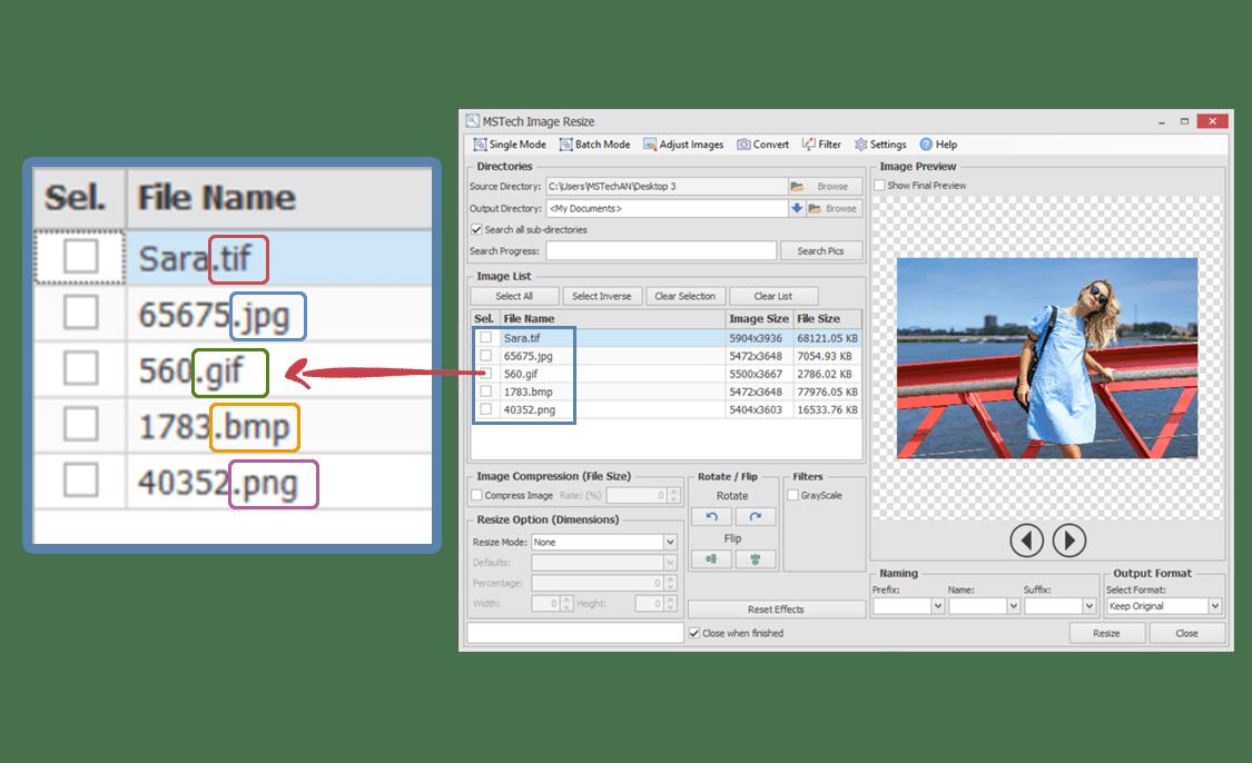 MSTech Image Resize Basic, Software Utilities Screenshot