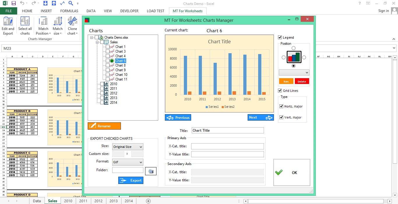 MT for Worksheets, Microsoft Office Software Screenshot