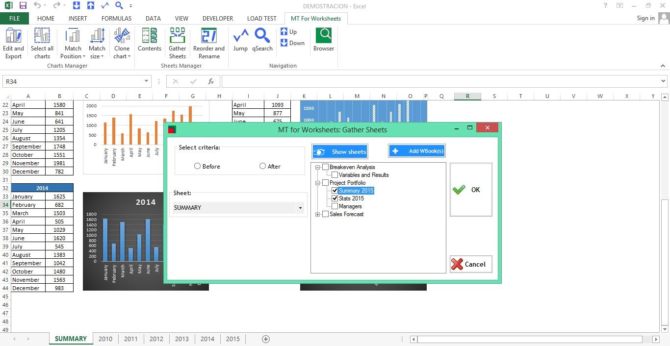 Microsoft Office Software, MT for Worksheets Screenshot