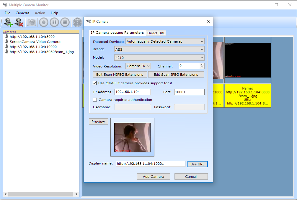 IP Camera Multiple Viewer, Activity Monitoring Software Screenshot