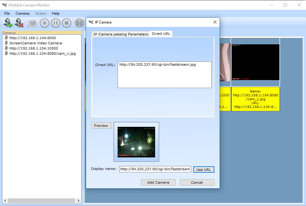 IP Camera Multiple Viewer, Security Software Screenshot