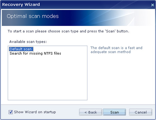 MultiStage Recovery, Recovery Software Screenshot