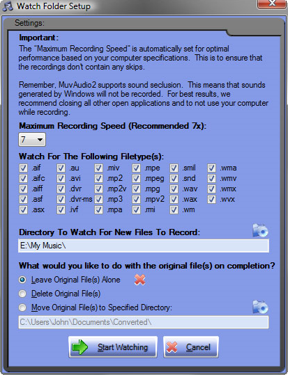 Audio Software, MuvAudio2 Screenshot