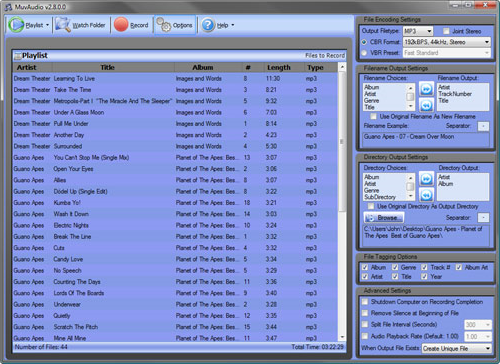 MuvAudio2, Audio Software Screenshot