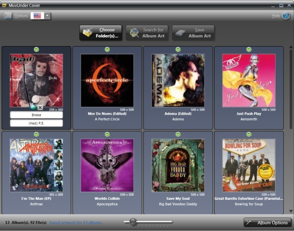 MuvUnder Cover: The Album Art Sleuth, Audio Software, MP3 Tag Editing Software Screenshot