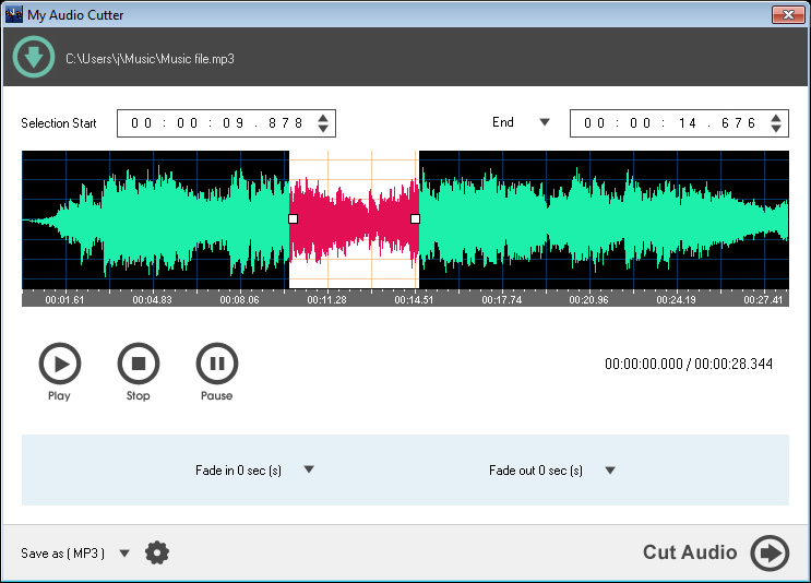 My Audio Cutter Screenshot