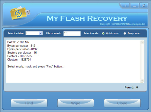 My Flash Recovery Screenshot
