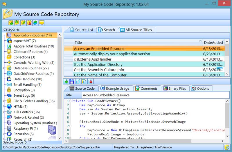 My Source Code Repository Screenshot