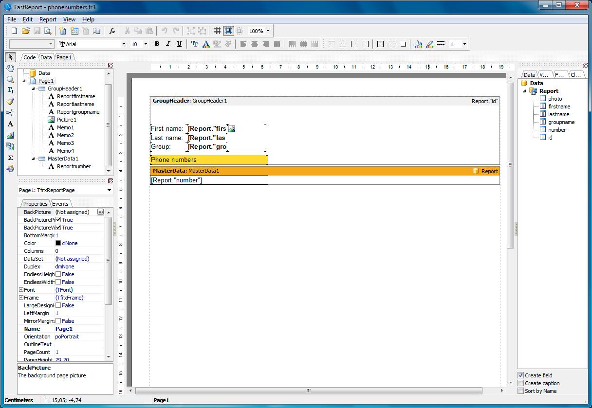 My Visual Database, Development Software, Database Software Screenshot