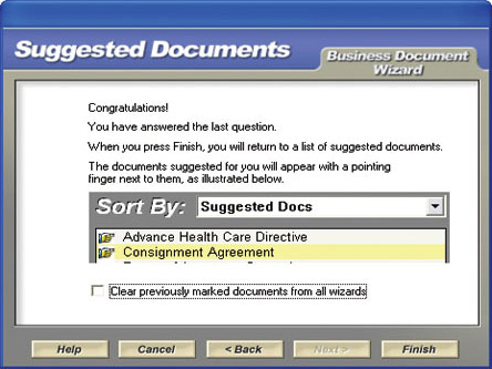 MyAttorney Home & Business, Reference Software Screenshot