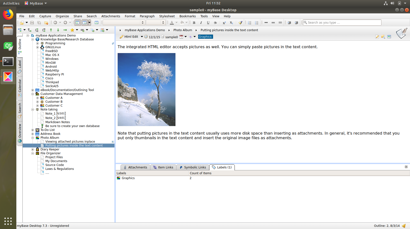 myBase Desktop 7.x Screenshot 14