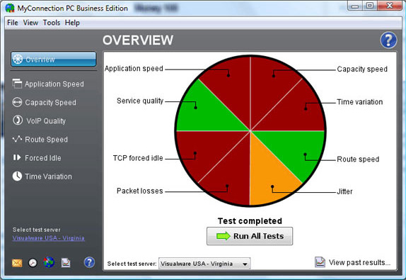 MyConnection PC Business Edition, Network Connectivity Software Screenshot