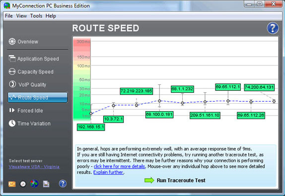 MyConnection PC Business Edition, Internet Software Screenshot
