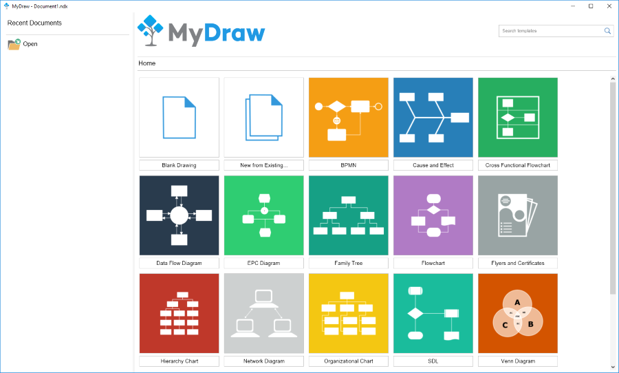 Vector Drawing Software, MyDraw Screenshot