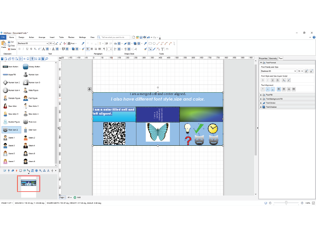 MyDraw, Design, Photo & Graphics Software, Vector Drawing Software Screenshot