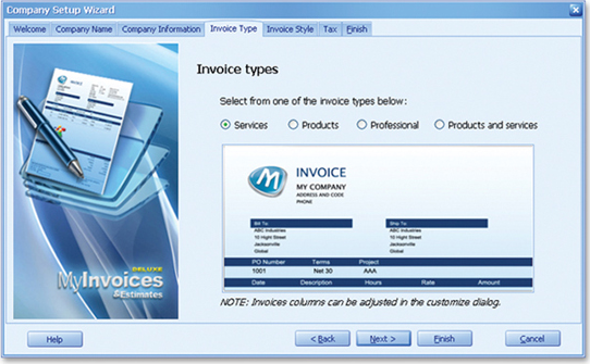 MyInvoices & Estimates Deluxe 9 - Finance Software for PC