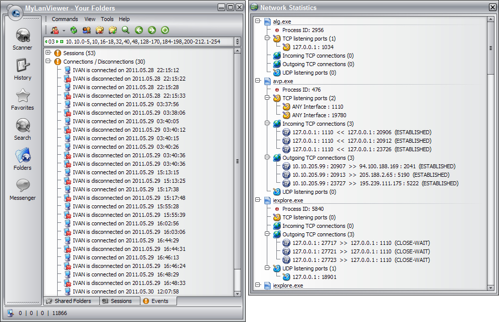 Network Software, MyLanViewer Screenshot