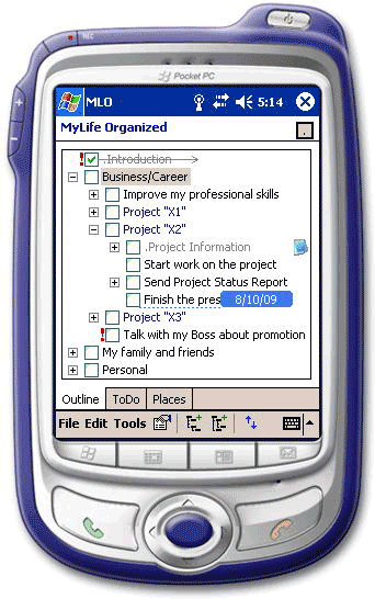 To-Do List Software, MyLifeOrganized Professional Screenshot