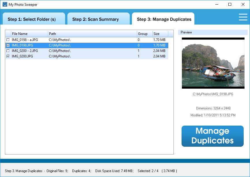 MyPhotoSweeper, Software Utilities Screenshot