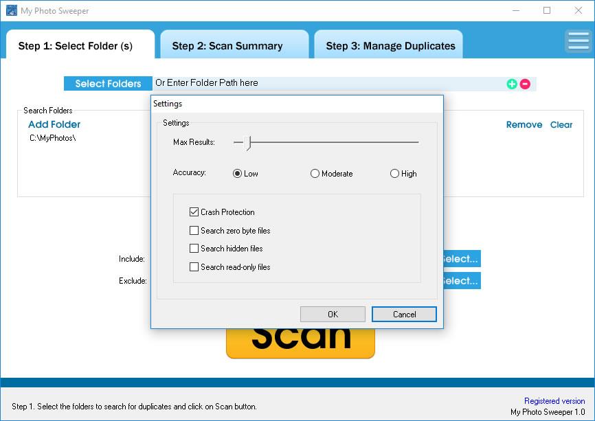 MyPhotoSweeper, Software Utilities, Duplicate Files Software Screenshot