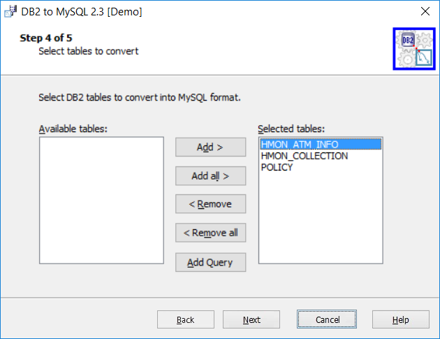 MySQL Migration Toolkit, Development Software Screenshot