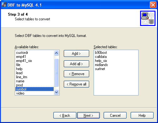Development Software, MySQL Migration Toolkit Screenshot