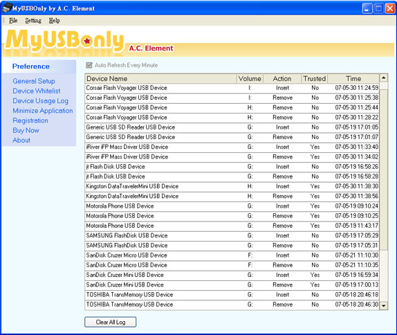 MyUSBOnly 2014, Security Software Screenshot