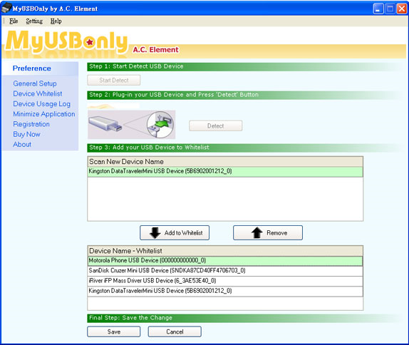 MyUSBOnly 2014, Hard Drive / USB Security Software Screenshot