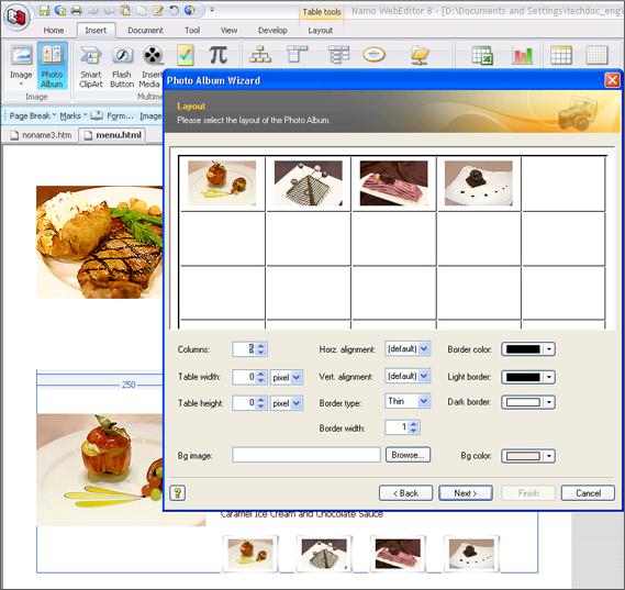 Namo WebEditor 8, HTML Editor Software Screenshot