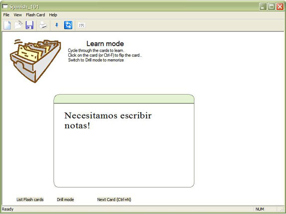 ndxCards, Hobby, Educational & Fun Software, Educational Software Screenshot