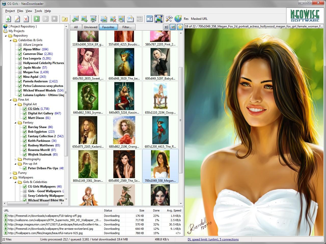 NeoDownloader, Website Scraping Software Screenshot