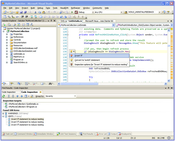 .NET Code Inspector, Development Tools Software Screenshot
