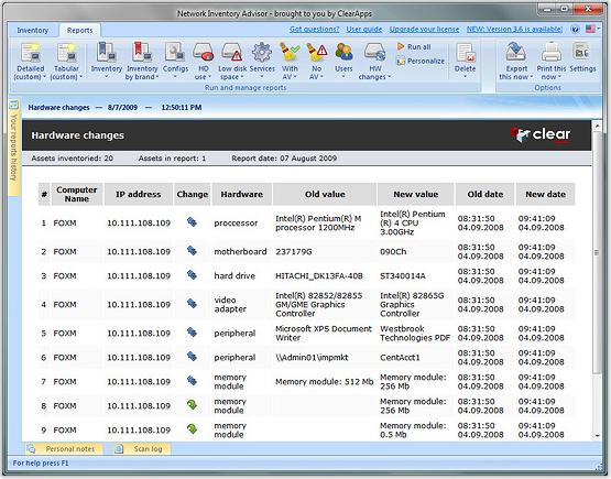 Network Inventory Advisor, Software Utilities Screenshot