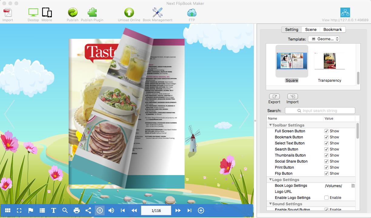 PDF Conversion Software, Next Flipbook Maker Screenshot