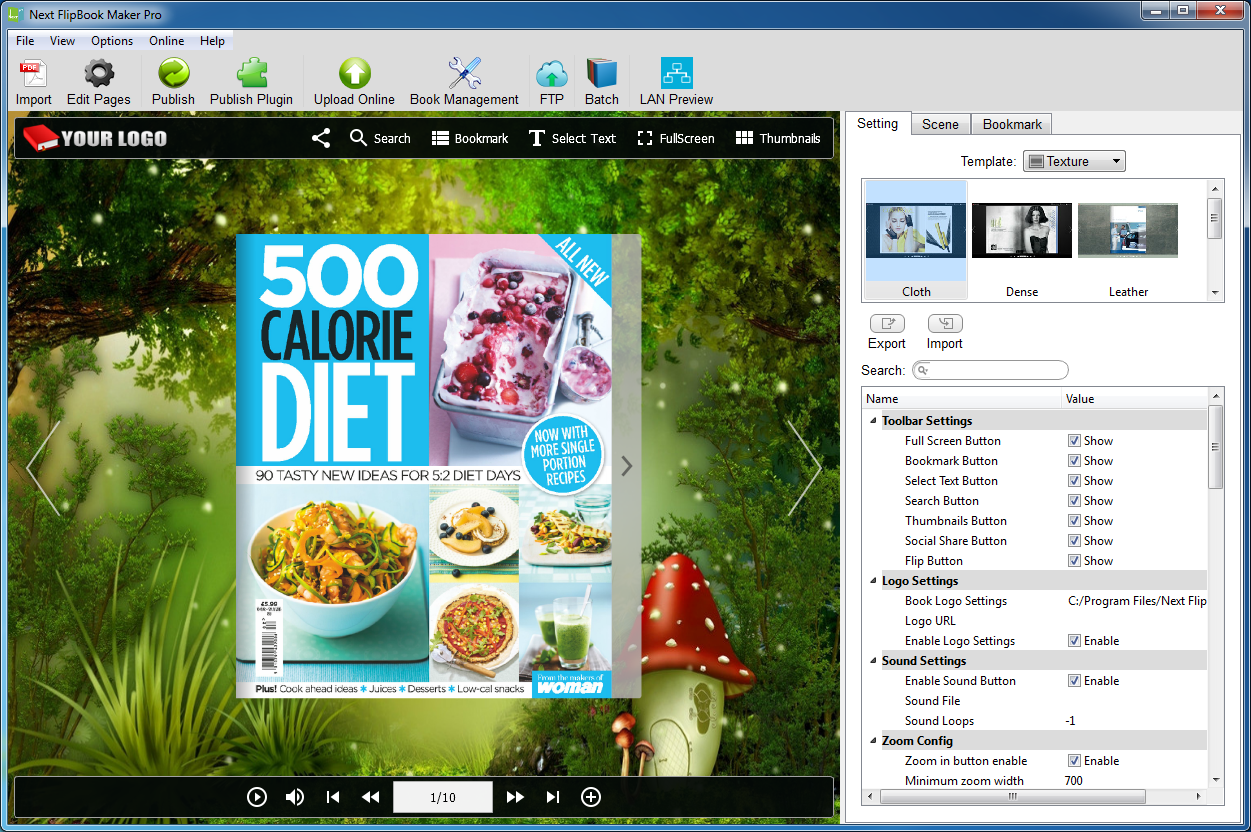 Next Flipbook Maker, PDF Conversion Software Screenshot