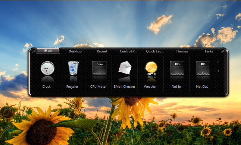 Nexus Ultimate, Desktop Customization Software Screenshot