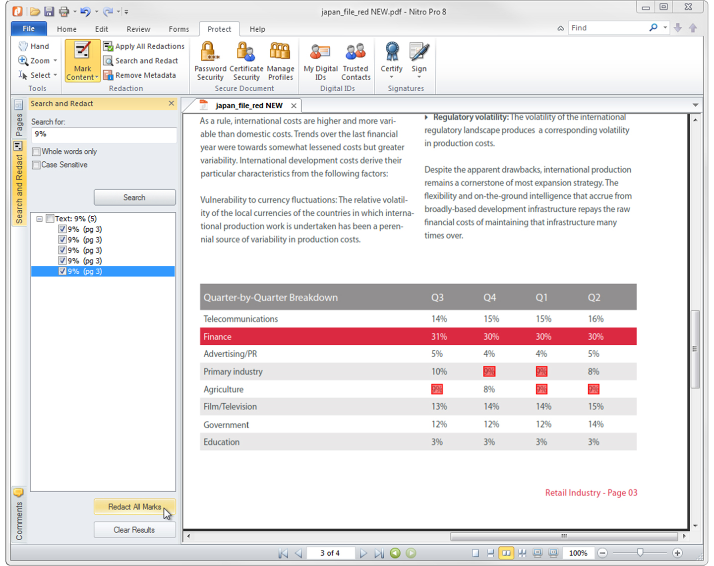 Nitro Pro 8, PDF Utilities Software Screenshot