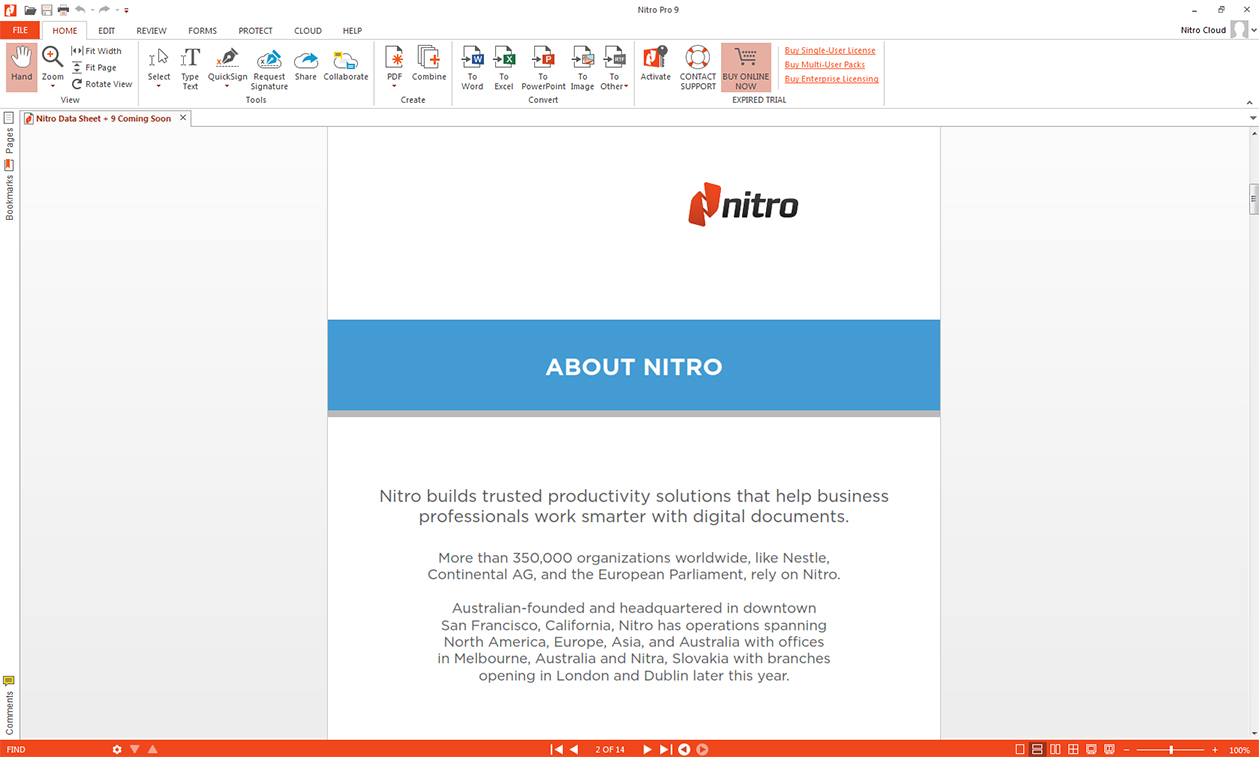 Nitro Pro 9 - PDF Utilities Software Download for PC