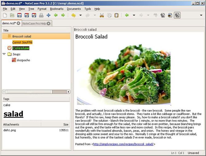 NoteCase Pro Screenshot