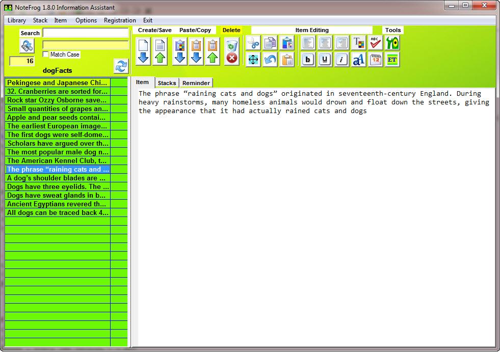 NoteFrog Professional Lifetime License Screenshot