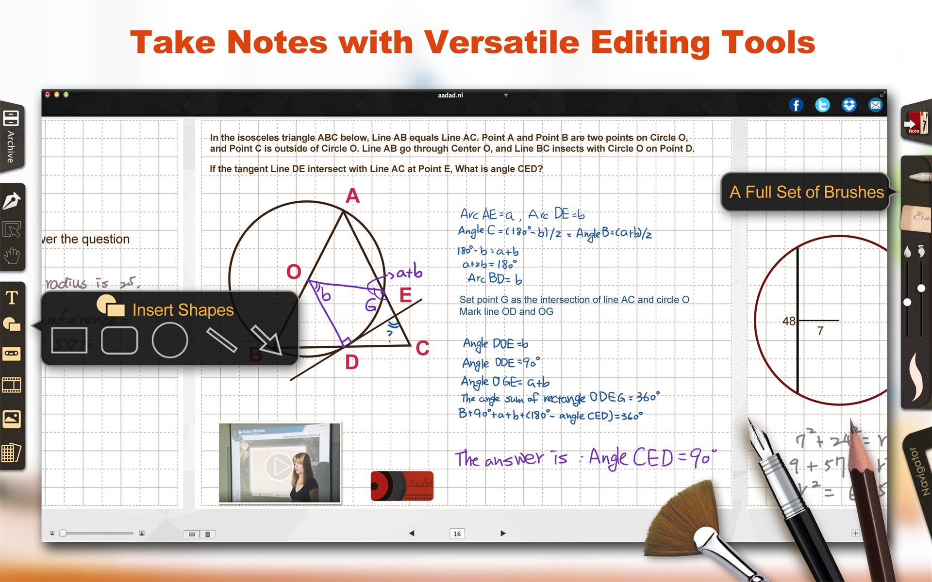Notes Software Screenshot