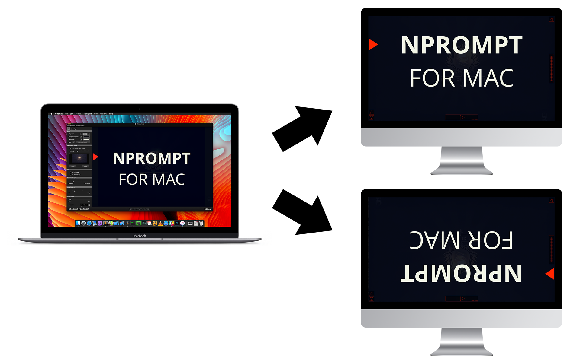 Video Software, nPrompt Teleprompter Screenshot