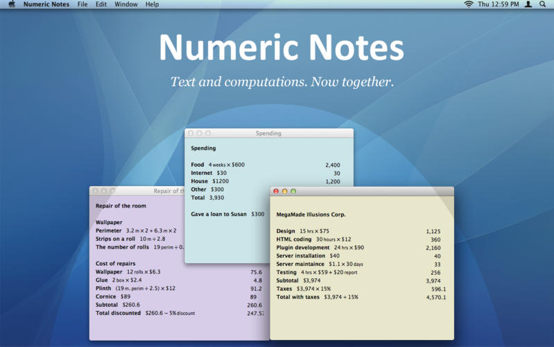 Numeric Notes Screenshot