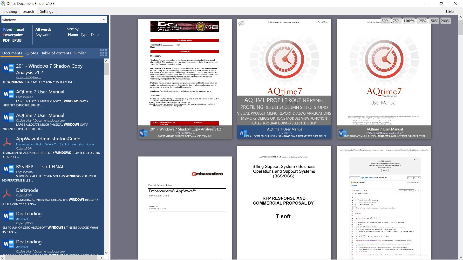 Office Document Finder, Productivity Software Screenshot