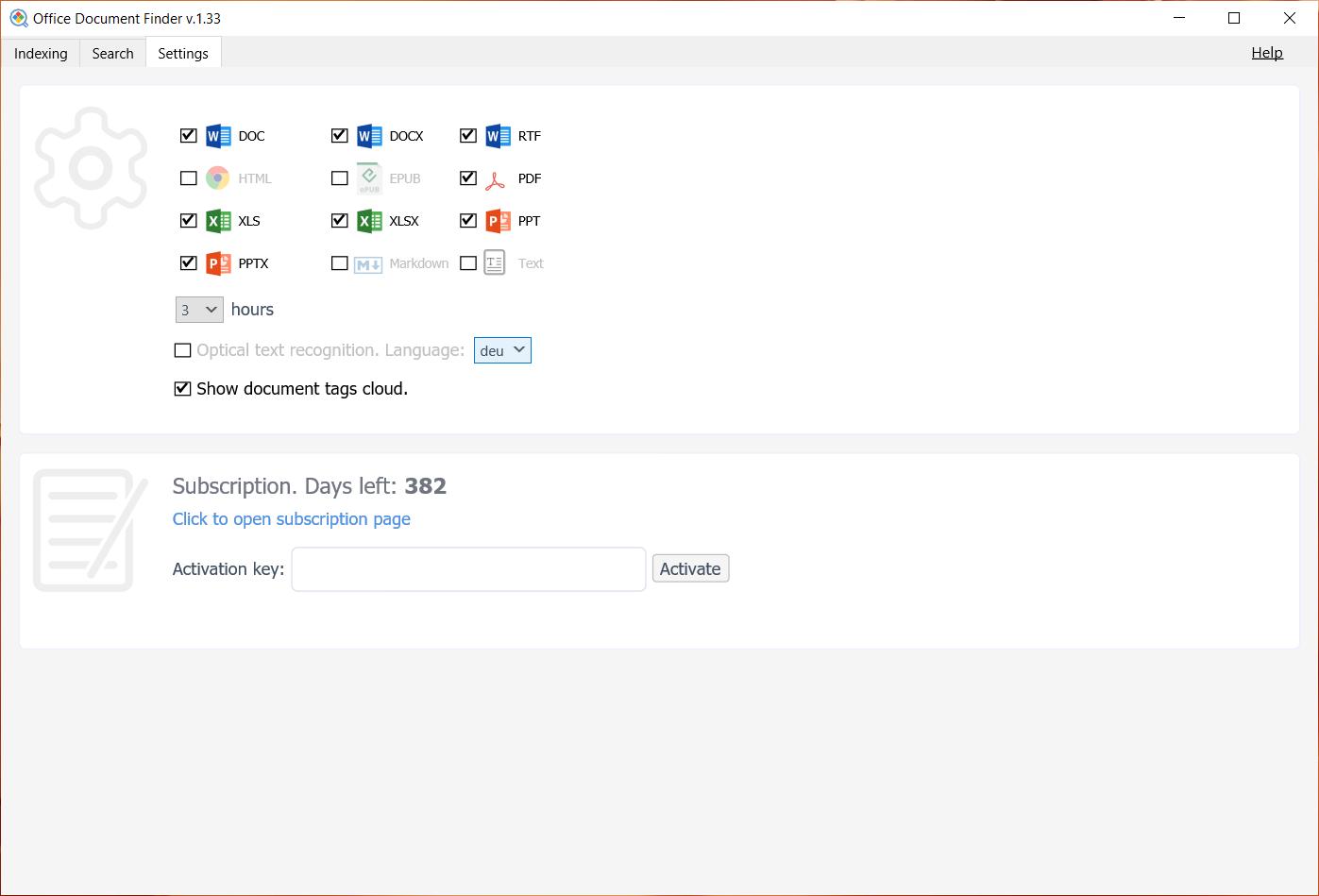 Document Management Software, Office Document Finder Screenshot