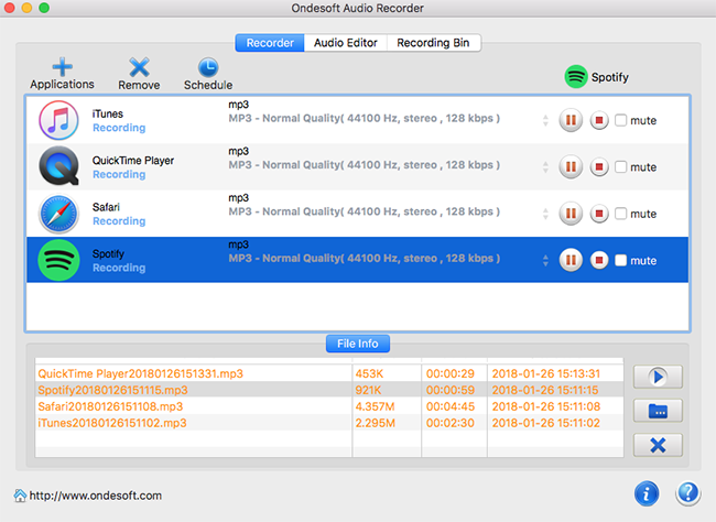 Ondesoft Audio Recorder for Mac Screenshot