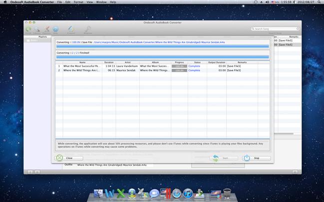 Audio Software, Ondesoft AudioBook Converter for Mac Screenshot