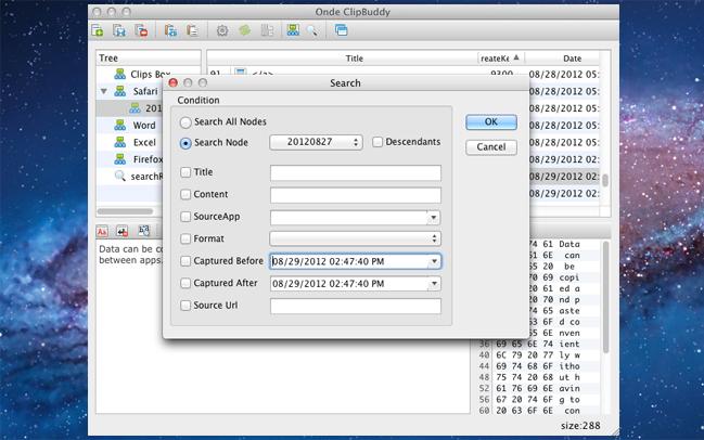 Desktop Customization Software, Ondesoft ClipBuddy for Mac Screenshot